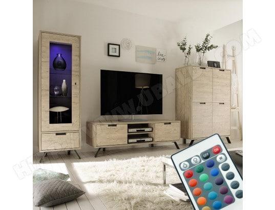 nouvomeuble ensemble meuble tv moderne couleur bois clair jace ma 82ca487ense q4ht3