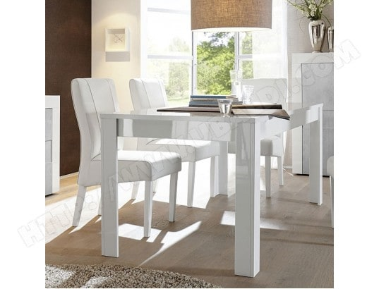 nouvomeuble table a manger extensible blanc laque design tunis ma 82ca492tabl wwmmf