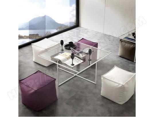 nouvomeuble table basse en verre avec poufs design matheo ma 82ca182tabl 7jxyk
