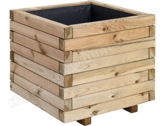 jardipolys jardiniere bois carree stockolm 67l jardipolys 1300