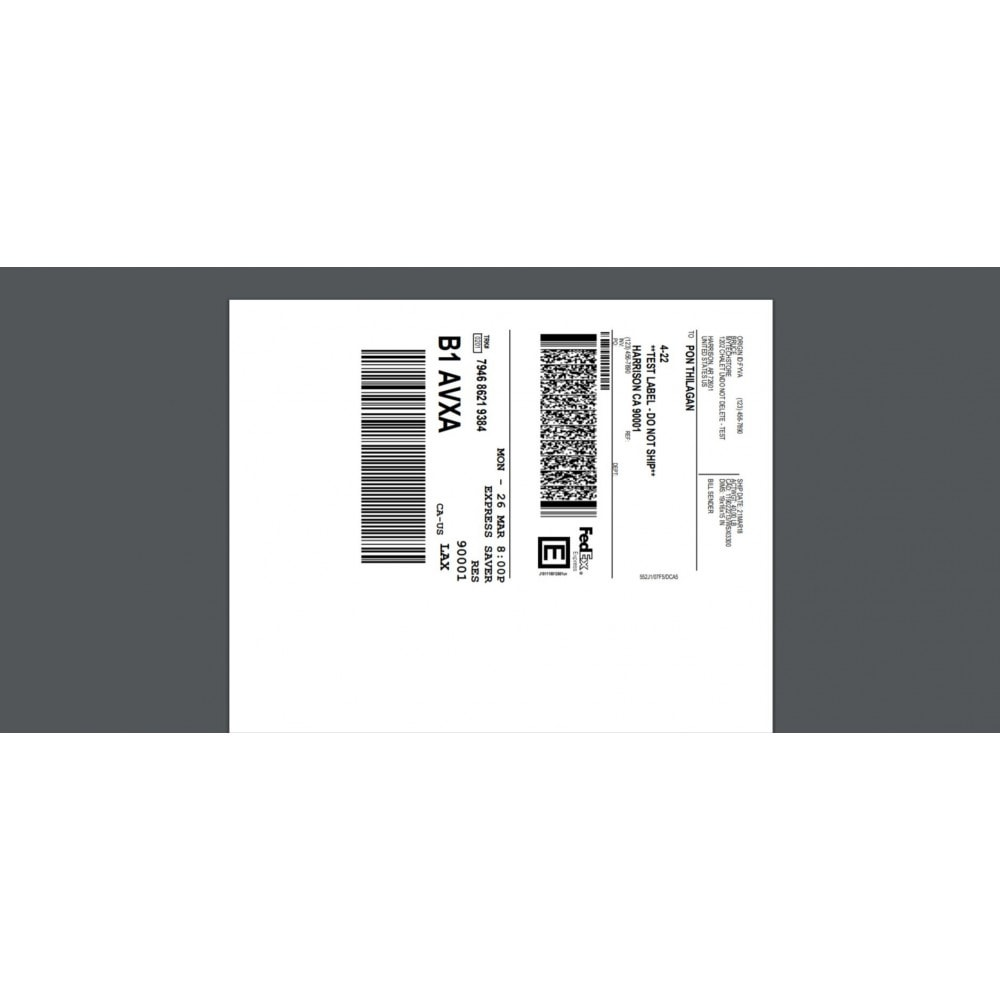 medium resolution of module shipping costs fedex shipping module with print label 1
