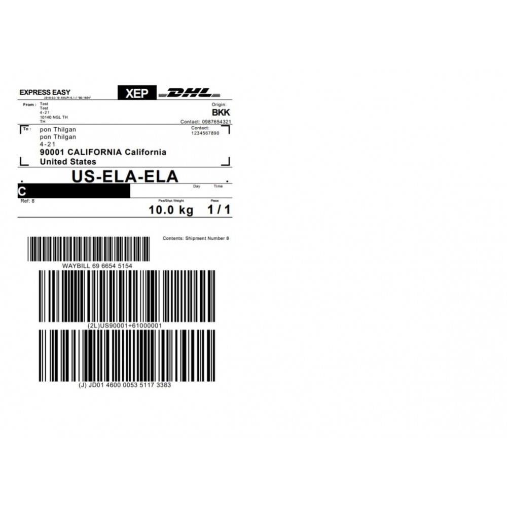 medium resolution of module preparation shipping dhl express shipping with print label 3