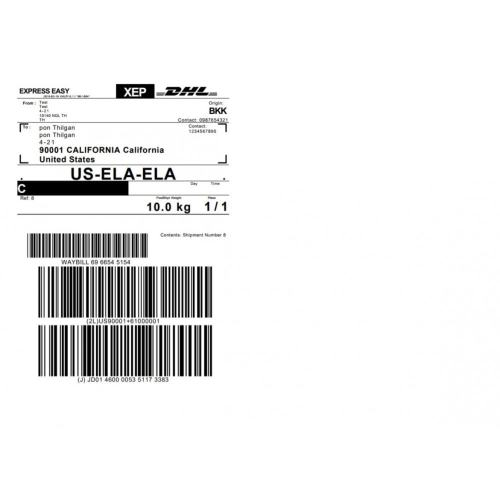 small resolution of module preparation shipping dhl express shipping with print label 3