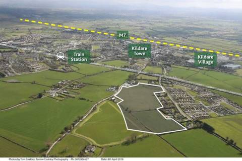 Site with F.P.P. for 187 units, Southgreen, Kildare Town, Co. Kildare