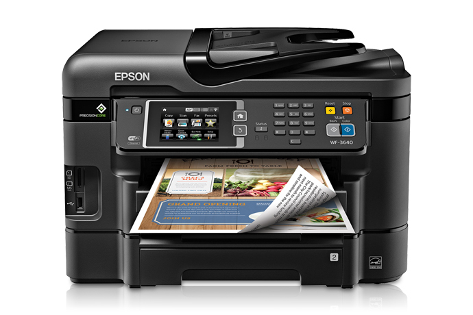 Epson workforce wf all in one printer also inkjet printers for rh
