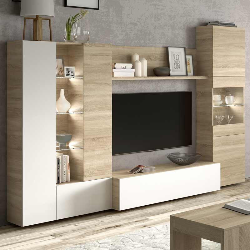 Mueble Modular Saln Comedor luz LED incluido Moderno