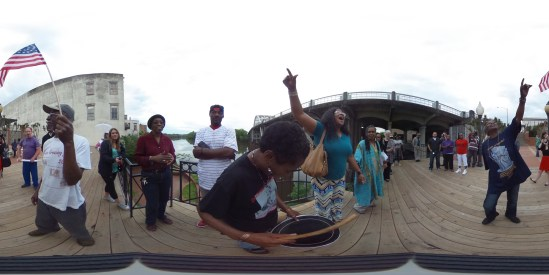 The Fractured Tour app opens on a 360° panorama of local Selma ac