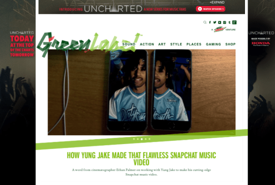 Complex Media created a website for a sponsor