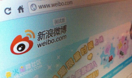 Sina Weibo is a Twitter-like service in China. Photo by Jon Russell on Flickr and reused here with Creative Commons license.