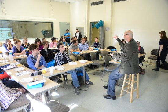 American University Communication professor Scott Talan speaks to students about personal branding and online identity during American's 2015 School of Communication Week. Photo: American University School of Communication