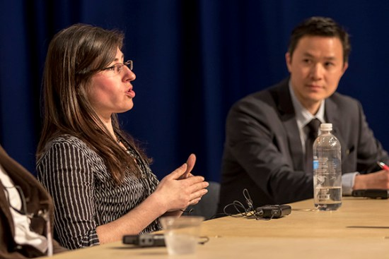 Carla Borras, producer at Frontline, and Russell Chun, assistant professor at Hofstra, discuss virtual reality challenges.