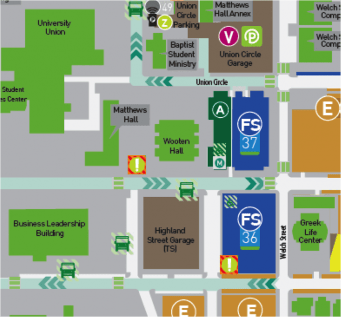 map of unt campus Travel Information For J School Hackathon At University Of North Texas map of unt campus
