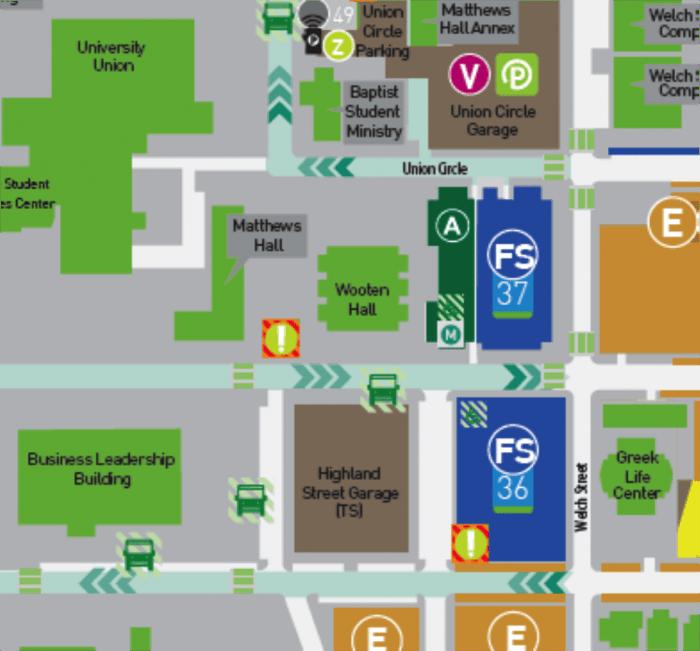 unt campus map 2016 Travel Information For J School Hackathon At University Of North Texas