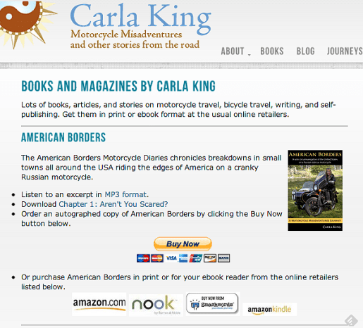 Carla King Book Sales Page