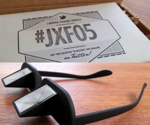 "A Quarterly box assembled by science journalist Joshua Foer contained these ""prism spectacles"" for more ergonomic reading."