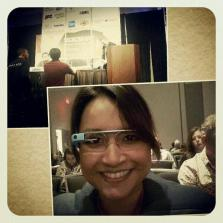 Priscillia Seelan experiments with Google Glass at SXSW.