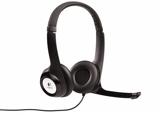 The Logitech H390 USB headset is an inexpensive choice for recording your voice.