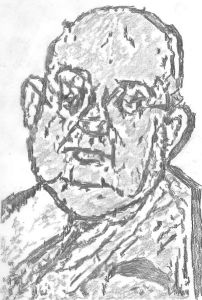 Illustration of A. J. Liebling by Jburlinson and used here with Creative Commons license.