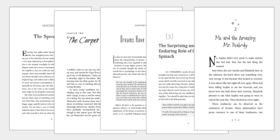 Joel Friedlander Book Design Gallery of Templates