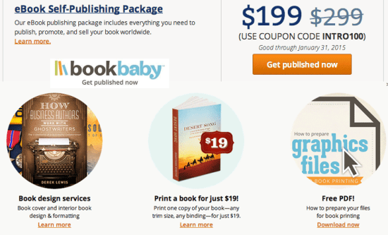 BookBaby ebook and print formatting and distribution