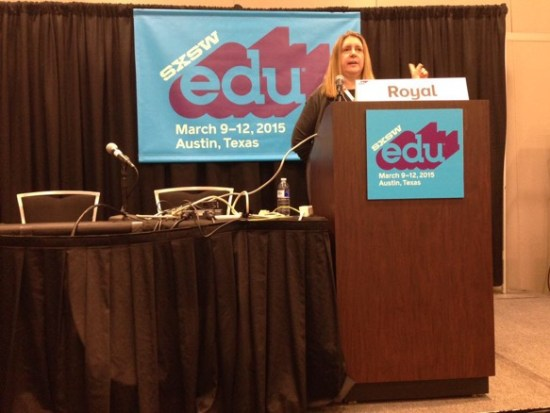 Cindy Royal, Associate Professor at Texas State University, spoke at SXSWedu on March 9.