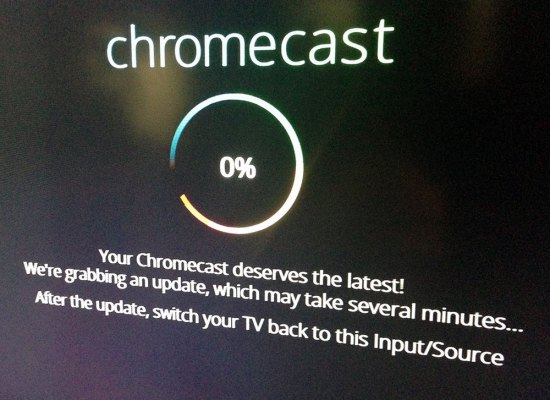 Chromecast software update