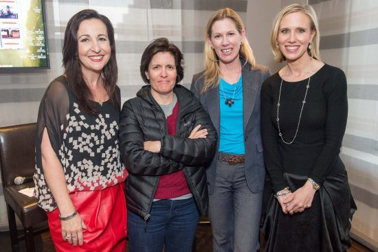 From left to right: Elisa Lees-Munoz, Kara Swisher, Lisa Stone, and Marne Levine (photo credit, Susana Bates/Drew Altizer Photography).