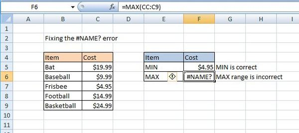 The Name Excel Error How To Find And Fix Name Errors In