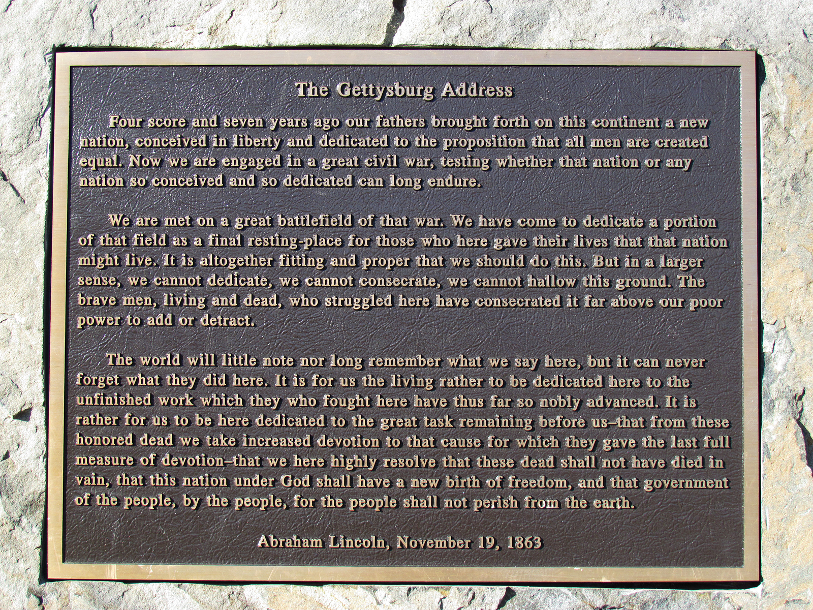 Trivia Questions About Lincoln S Gettysburg Address