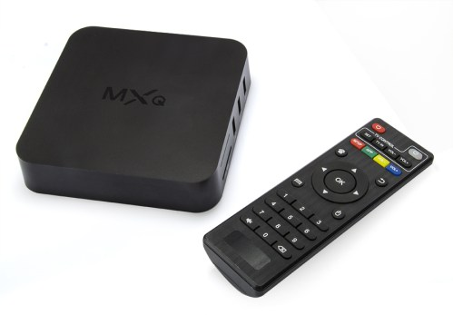 The MediaStax MXQ box and remote