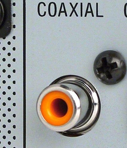 COAX input poort voor digitale audio