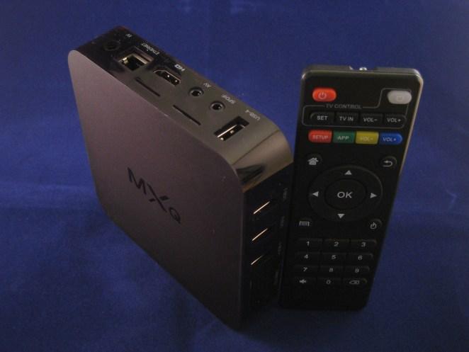 MXQ box en afstandsbediening