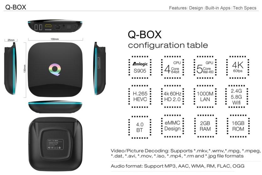 Technische specificaties MediaStax Q-Box