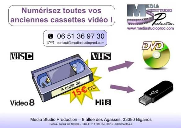 transfert copie numérisation de cassettes vidéo