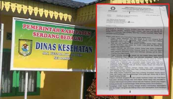 Diduga Pasang Tarif Rp15 Ribu, Dinkes Sergai Dilaporkan ke Ombudsman Sumut