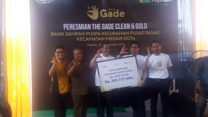 Program the Gade Clean and Gold Luncurkan Bank Sampah Puspa