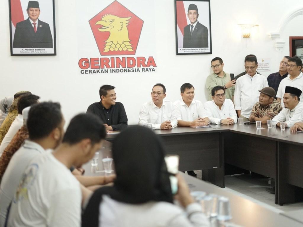 Bobby Nasution Resmi Daftar ke Gerindra