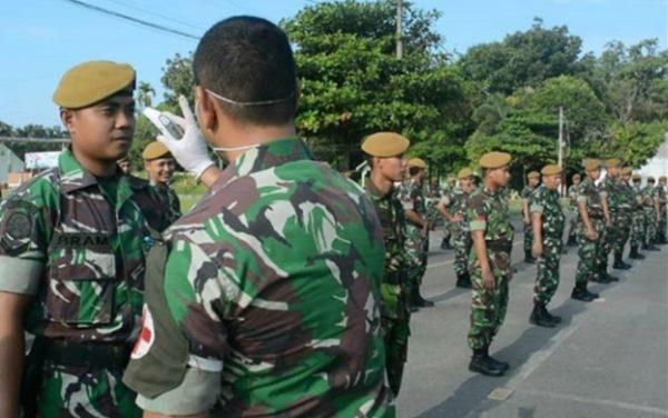 Cegah Covid 19, Danyon Arhanud 11 Ajak Personel Lakukan Pola Hidup Bersih dan Sehat