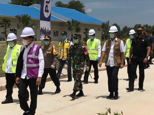 Pangdam I/BB Dampingi Presiden Jokowi Tinjau Kesiapan RS Khusus di Pulau Galang