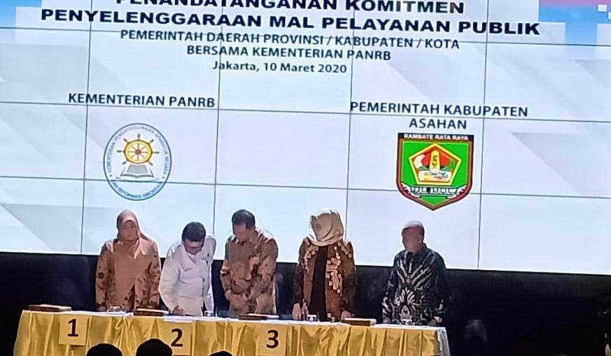 Bupati Asahan Tandatangi Komitmen Penyelenggaraan MPP Tahun 2020