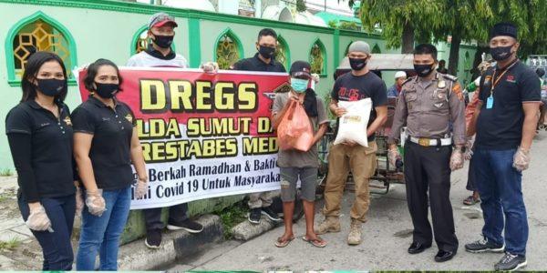 Bintara Polisi Salurkan Paket Sembako Kepada Masyarakat