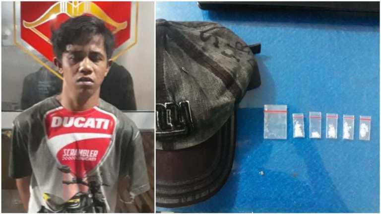 Simpan Lima Paket Sabu di Balik Topi, Seorang Pemuda Ditangkap