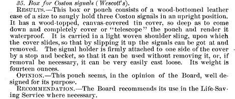 John T. Wescott designs Box for Coston Signals