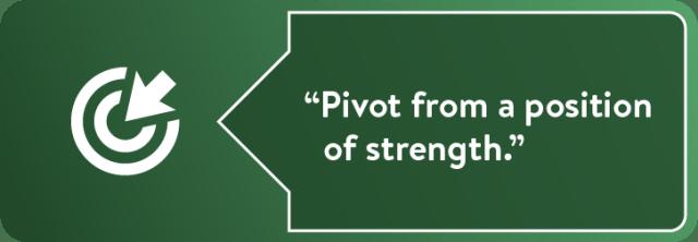 """""""Pivotez à partir d'une position de force."""""""