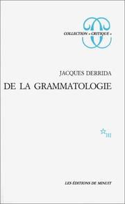 Of_Grammatology,_French_edition