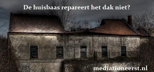 De huisbaas repareert het dak niet - Mediation eerst!