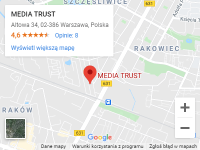 MediaTrust w Mapach Google