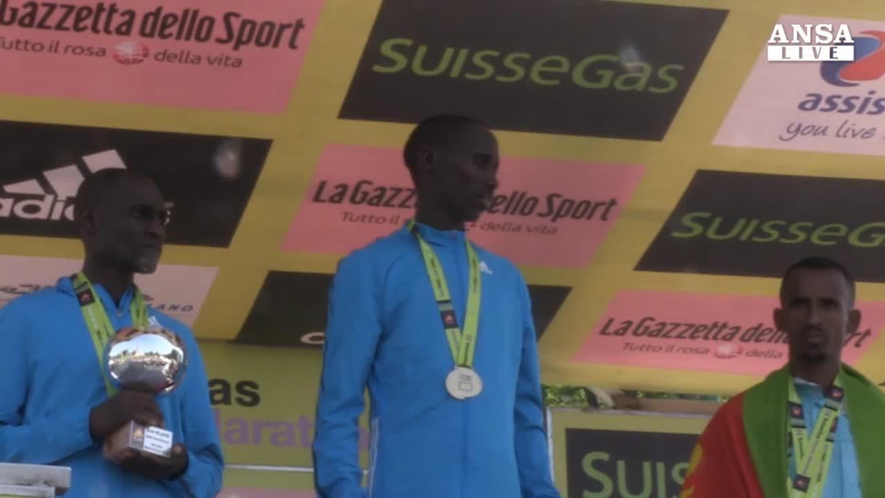 A maratona Milano il podio e africano