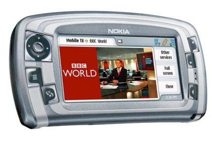 Reaalikainen tv-kuva kännykässä on kooltaan pieni