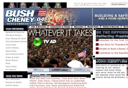 Kuvakaappaus www.georgewbush.com